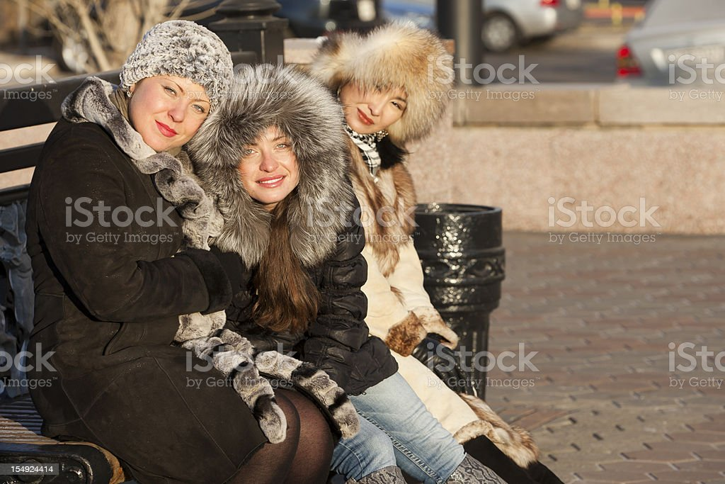 girls: Winter stock photo