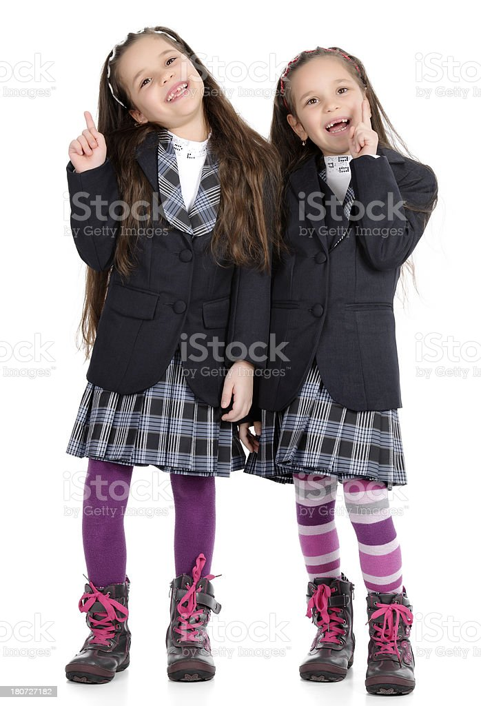 girls with ideas royalty-free stock photo