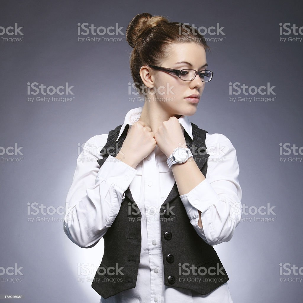 Girl-student stock photo