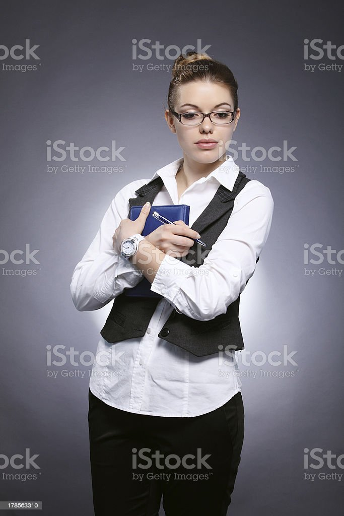 Girl-student royalty-free stock photo