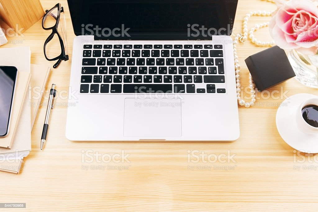 Girly desktop stock photo