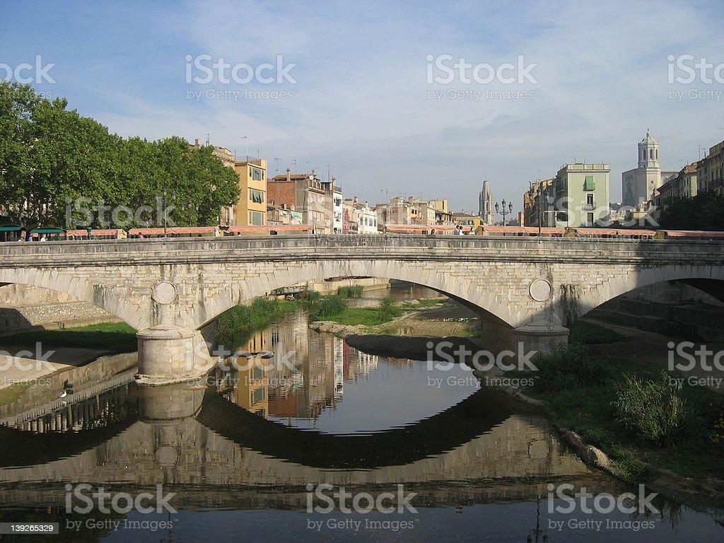 Girona Bridge royalty-free stock photo