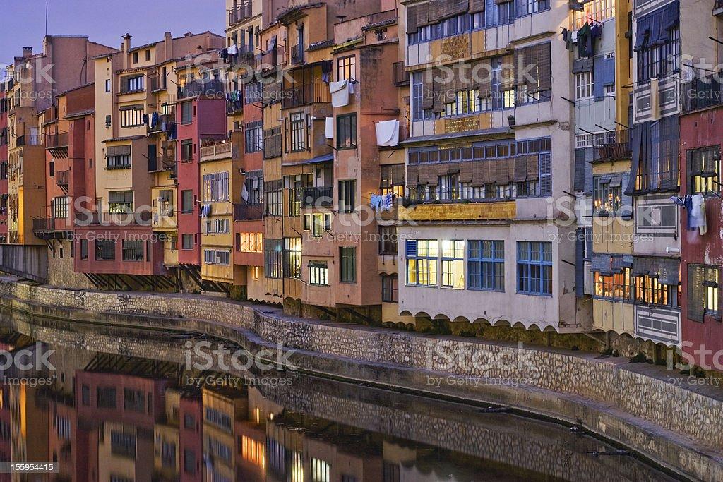 Girona river houses royalty-free stock photo