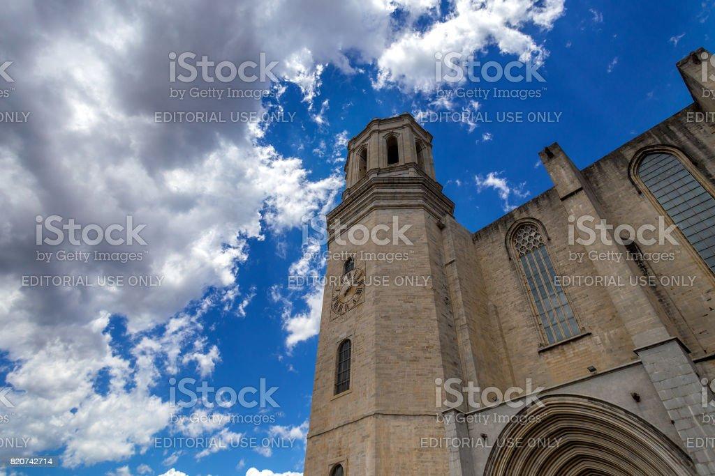 Girona Santa Maria stock photo