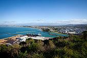 Gisborne City New Zealand from Kaiti Hill, Titirangi Reserve