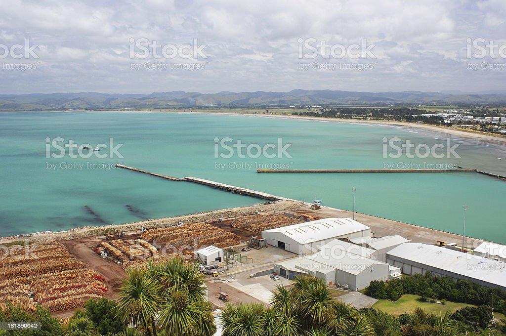 Gisborne Harbour stock photo