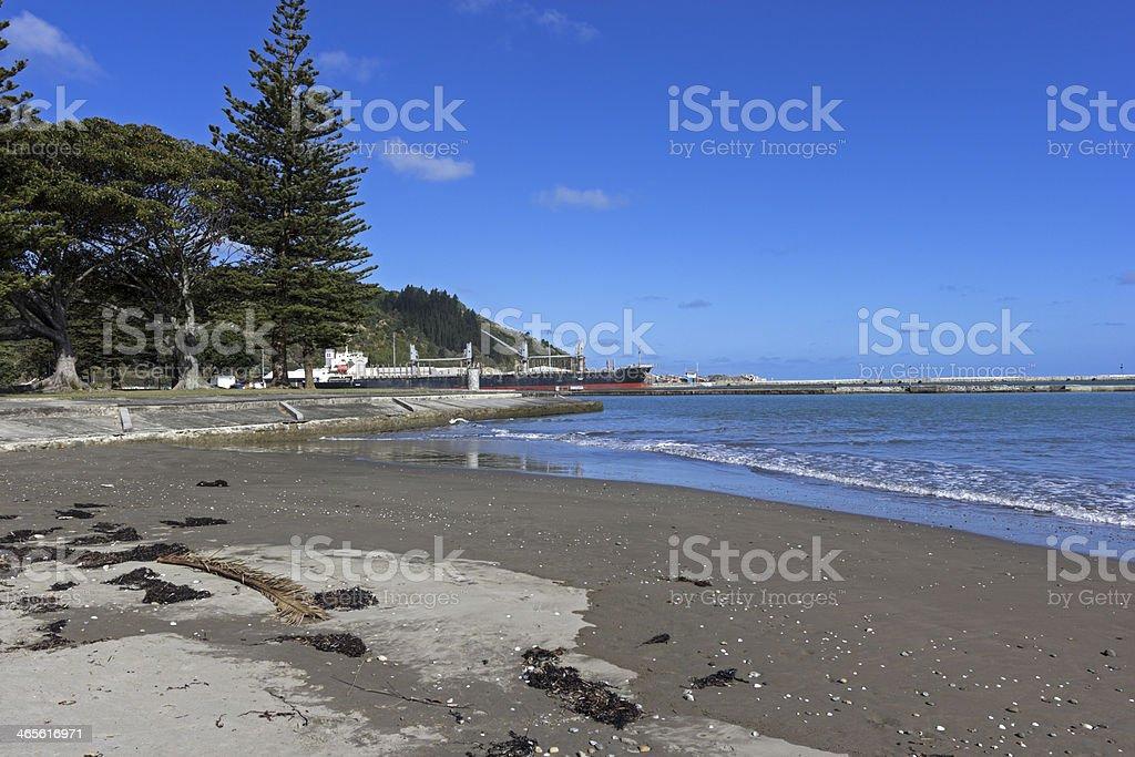 Gisborne in New Zealand stock photo