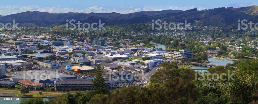 Gisborne skyline stock photo