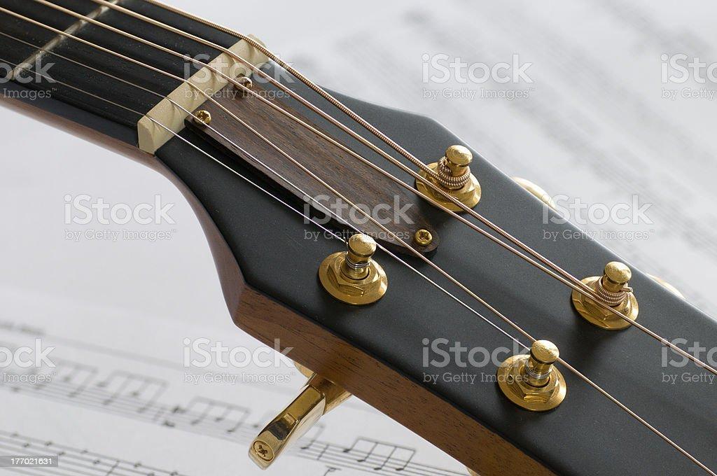 Gitarrenkopf stock photo