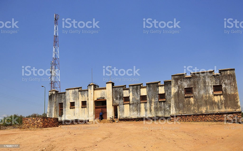 Gitega, Burundi: old German fort stock photo