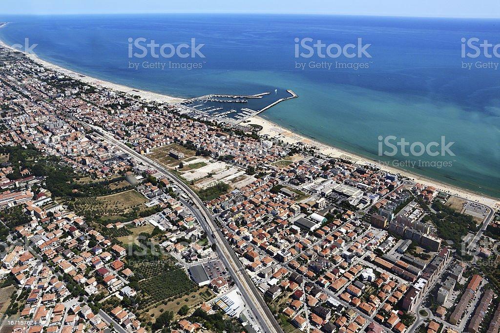 Giulianova, aerial view royalty-free stock photo