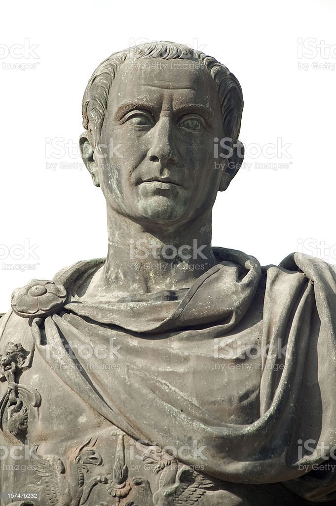 Giulio Cesare portrait - The Roman Emperor stock photo