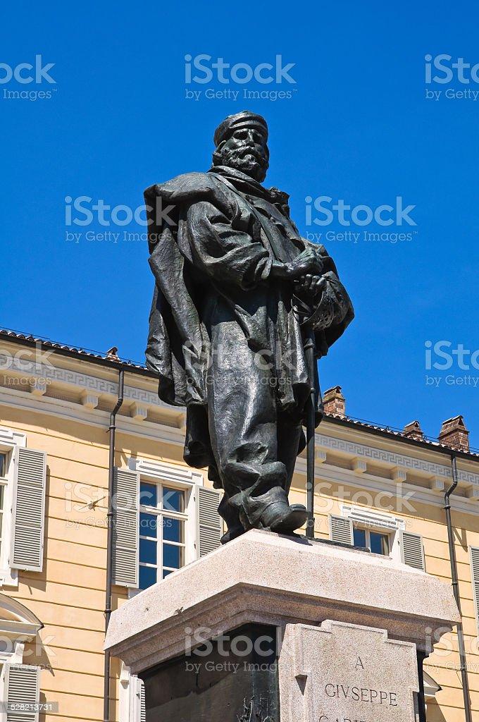 Giuseppe Garibaldi Bronze Statue. Parma. Emilia-Romagna. Italy. stock photo