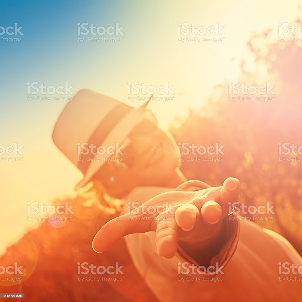 give a hand stock photo