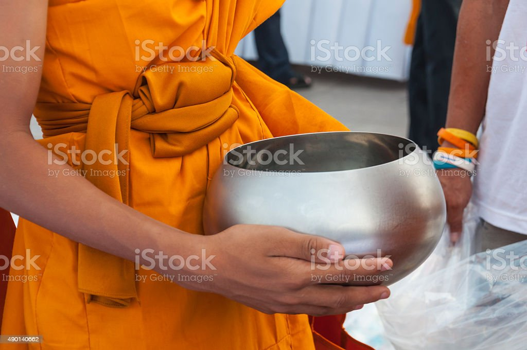 give alms stock photo