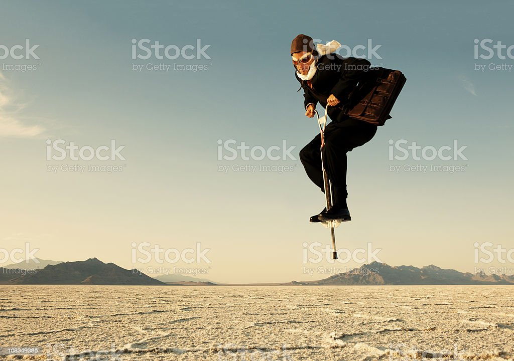 Give Business a Boing royalty-free stock photo