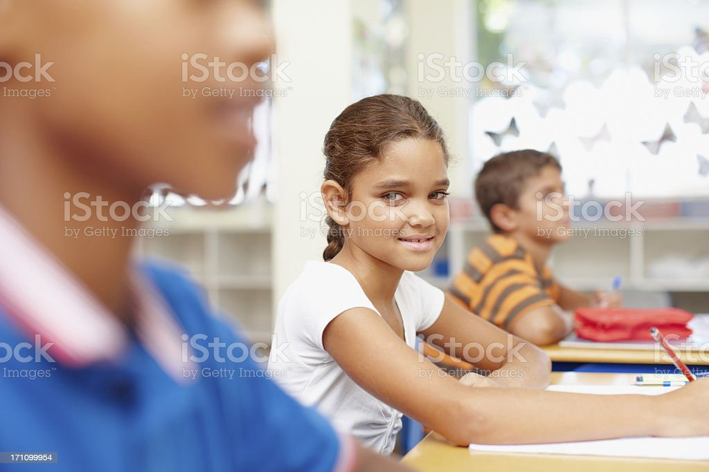Give her a bright and inspiring education stock photo