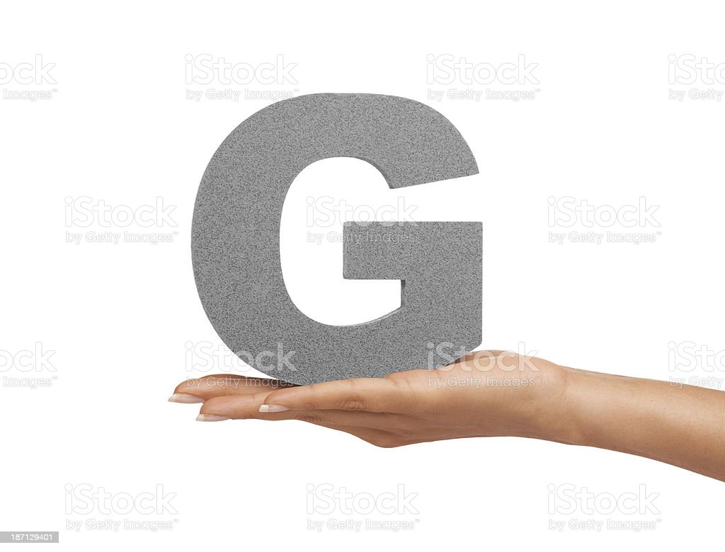 Give it up for the letter 'G'! royalty-free stock photo