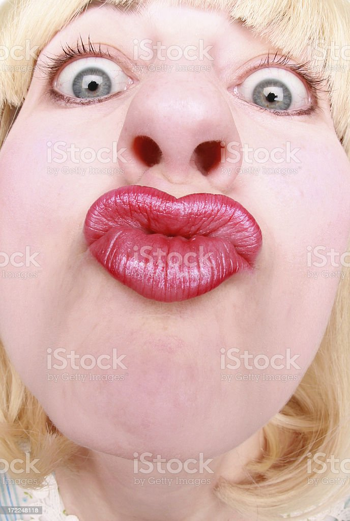Give Mama A Kiss royalty-free stock photo