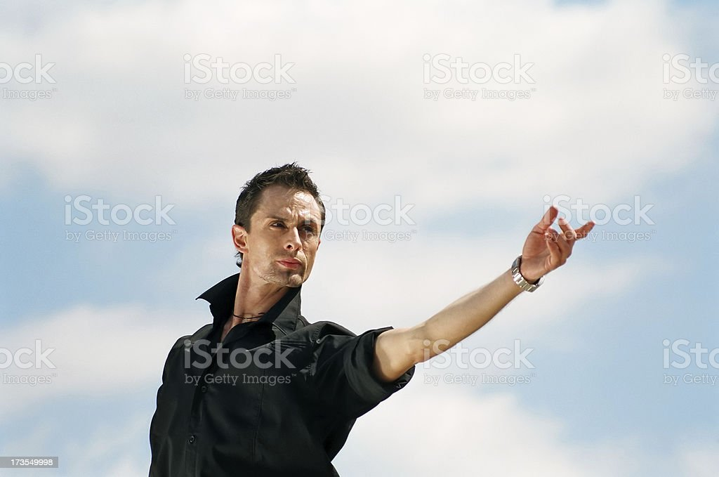 Give me a hand royalty-free stock photo