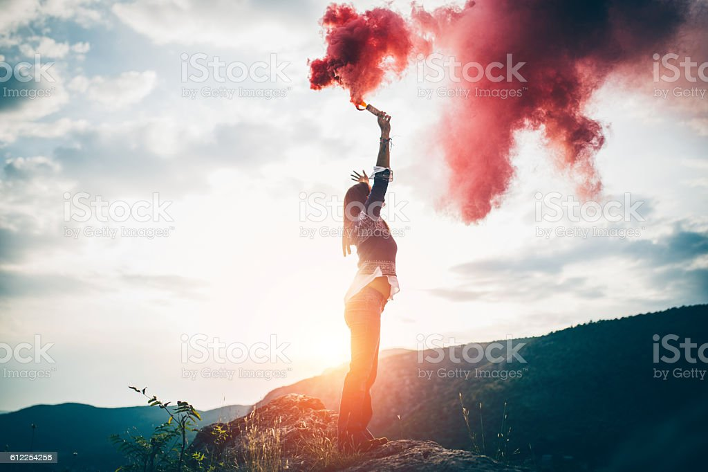 Give me a sign stock photo