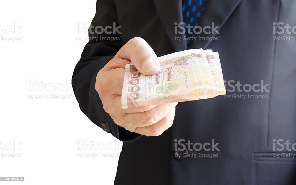 Give Money stock photo