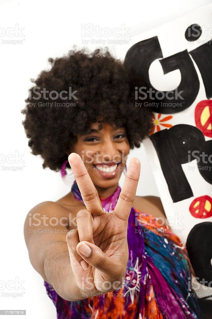 Give Peace A Chance royalty-free stock photo
