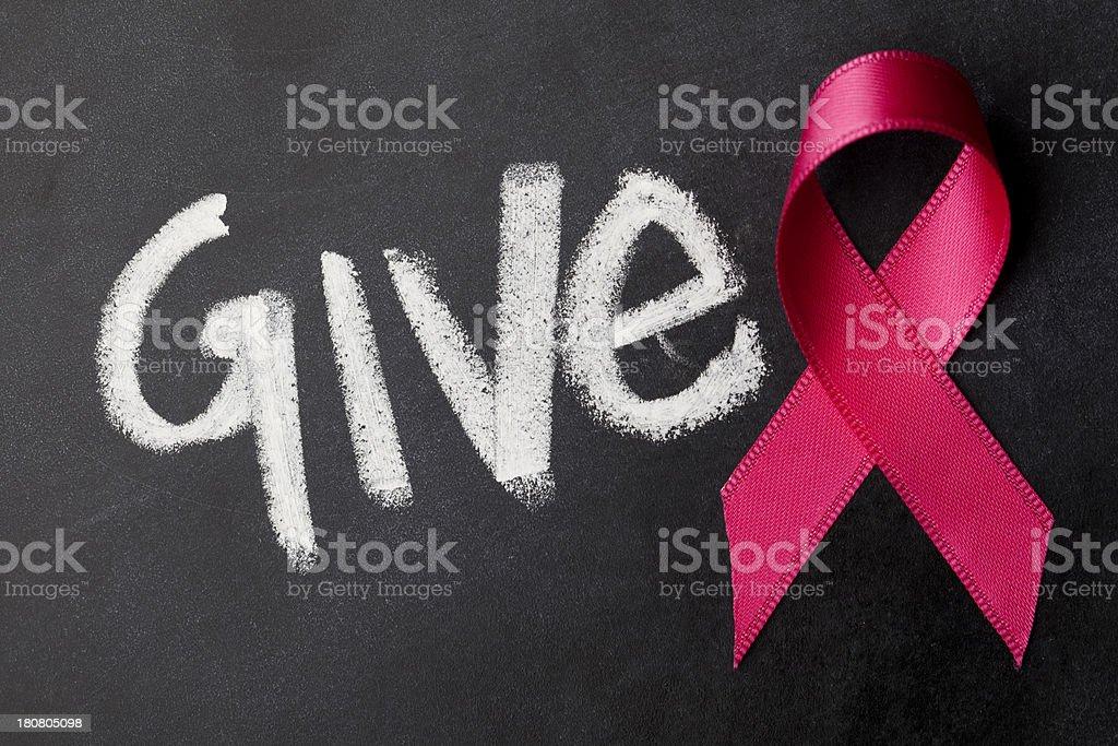 Give - Pink awareness ribbon royalty-free stock photo