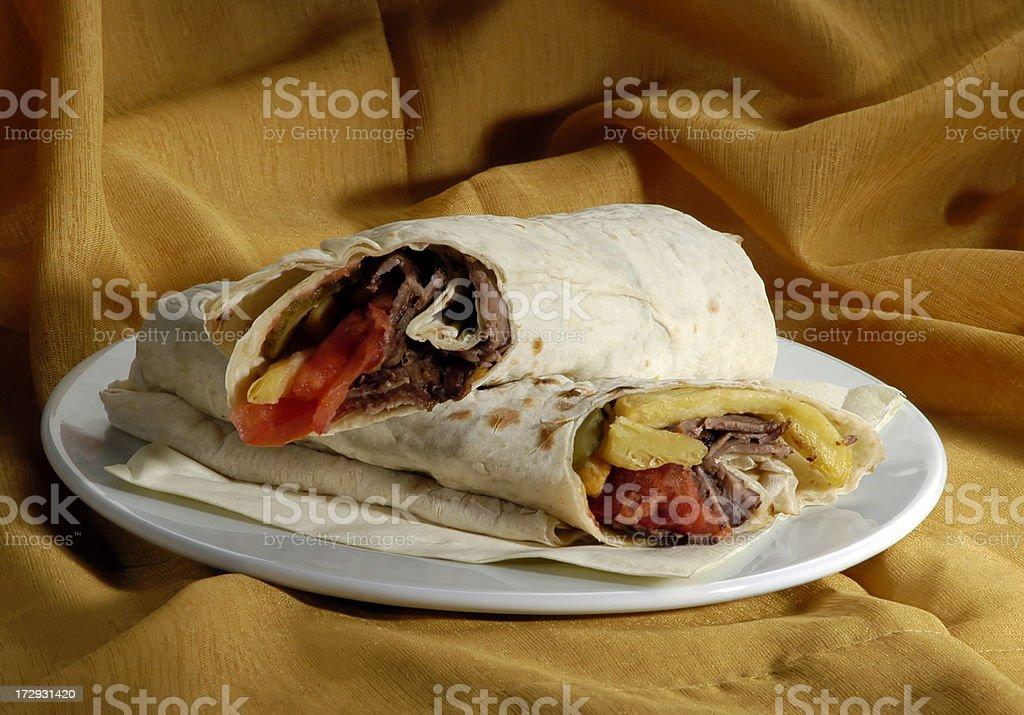 Donner Sandwich, Durum stock photo