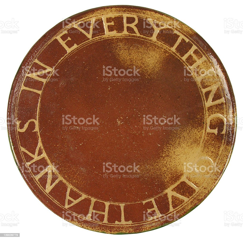 Give Thanks Plate royalty-free stock photo
