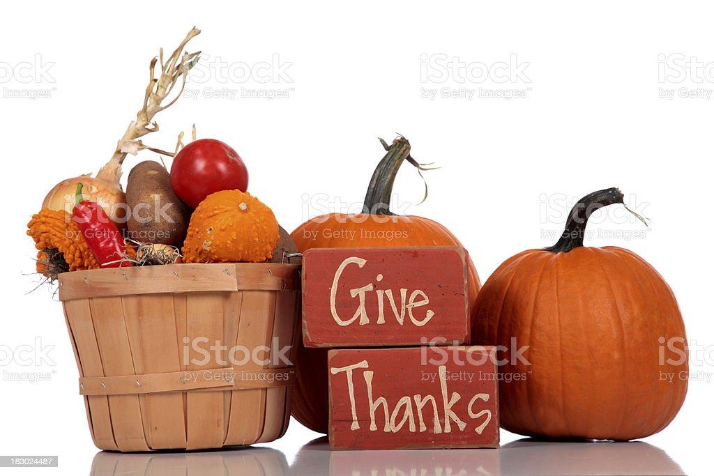 Give Thanks - Thanksgiving Theme royalty-free stock photo