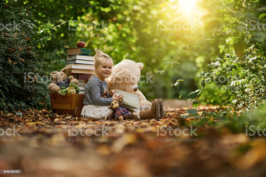 Give them a happy childhood stock photo