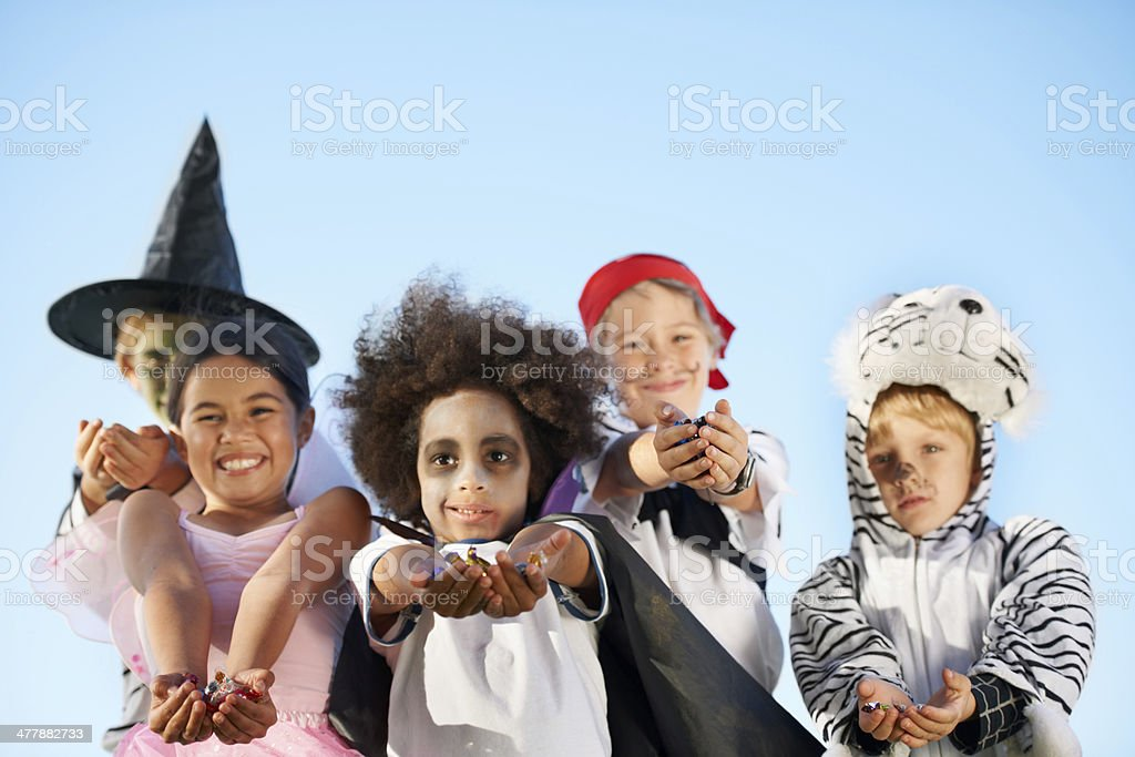 Give us some sweets! royalty-free stock photo