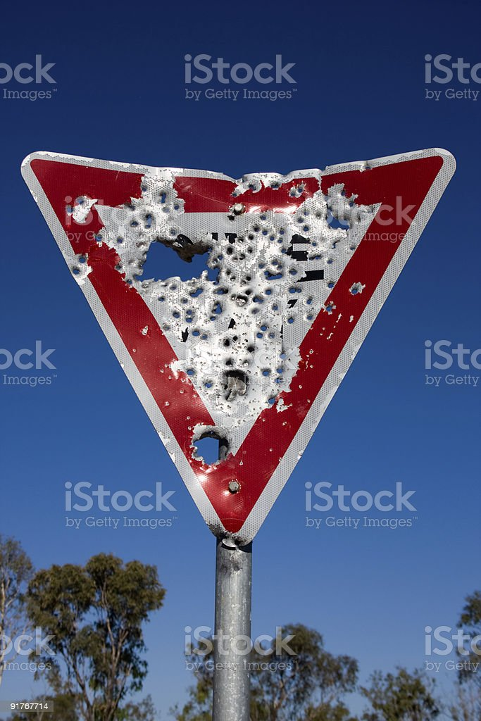 Give Way or Else... stock photo