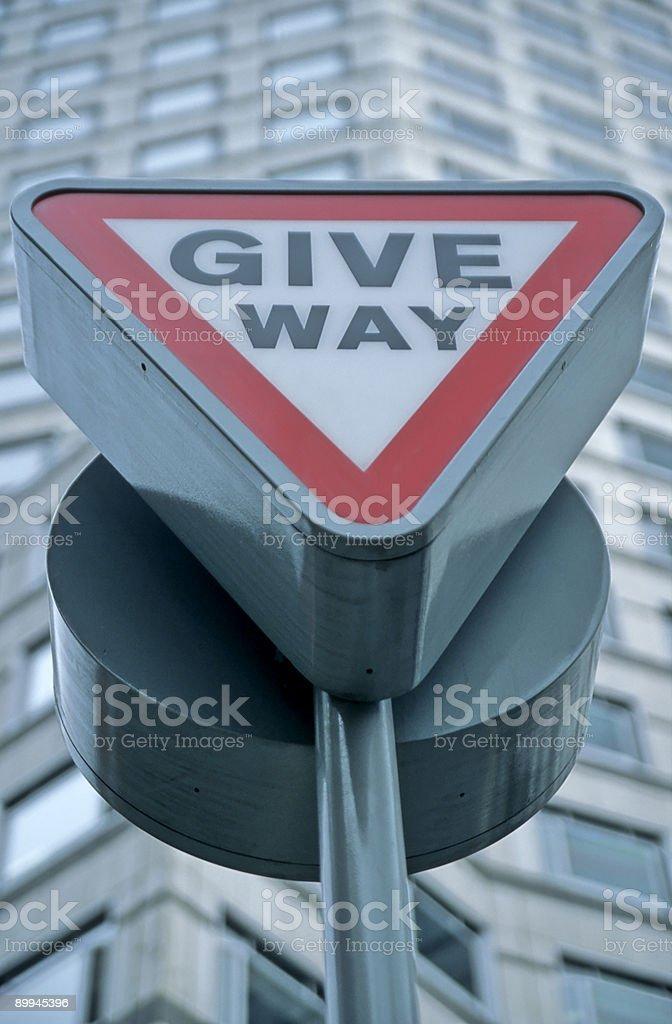 Give Way Sign royalty-free stock photo