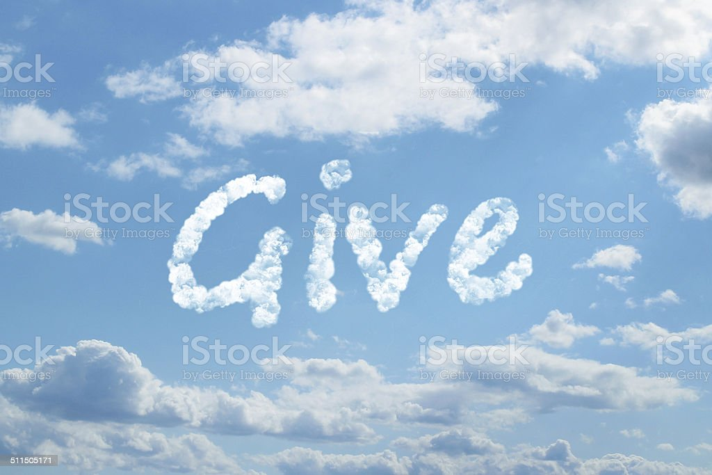 Give word concept on cloud stock photo