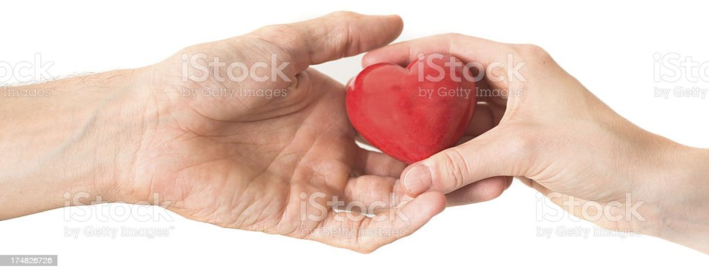 give your heart away love concept with hands stock photo