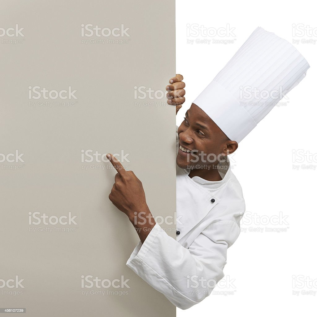 Giving a chef's approval royalty-free stock photo