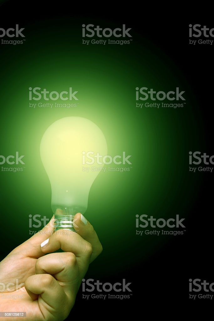 Giving a green light stock photo