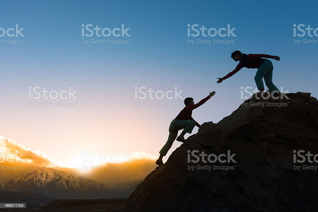 Giving A Helping Hand stock photo