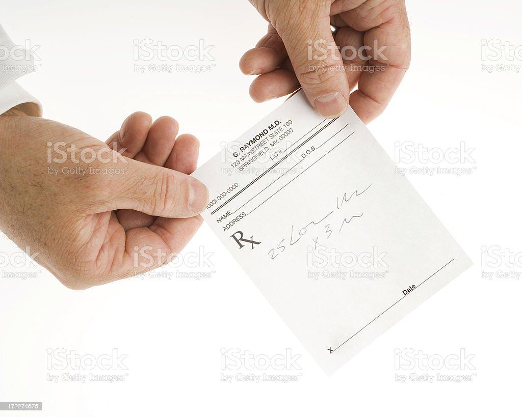 Giving a prescription royalty-free stock photo