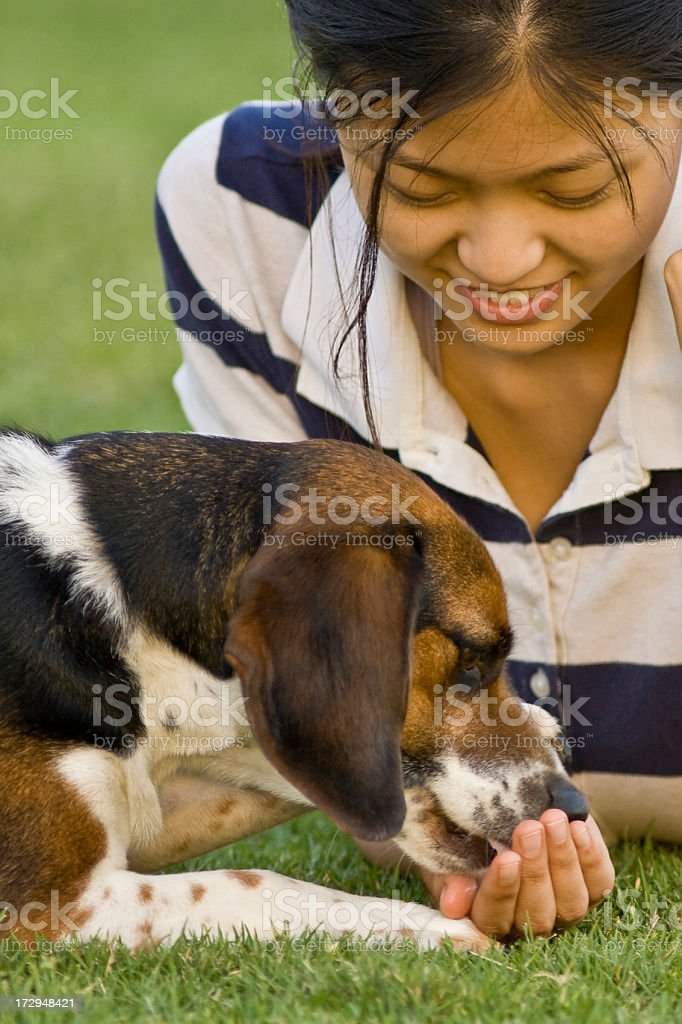 giving a snack royalty-free stock photo