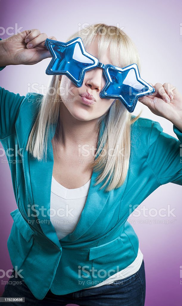 Giving a star kiss royalty-free stock photo