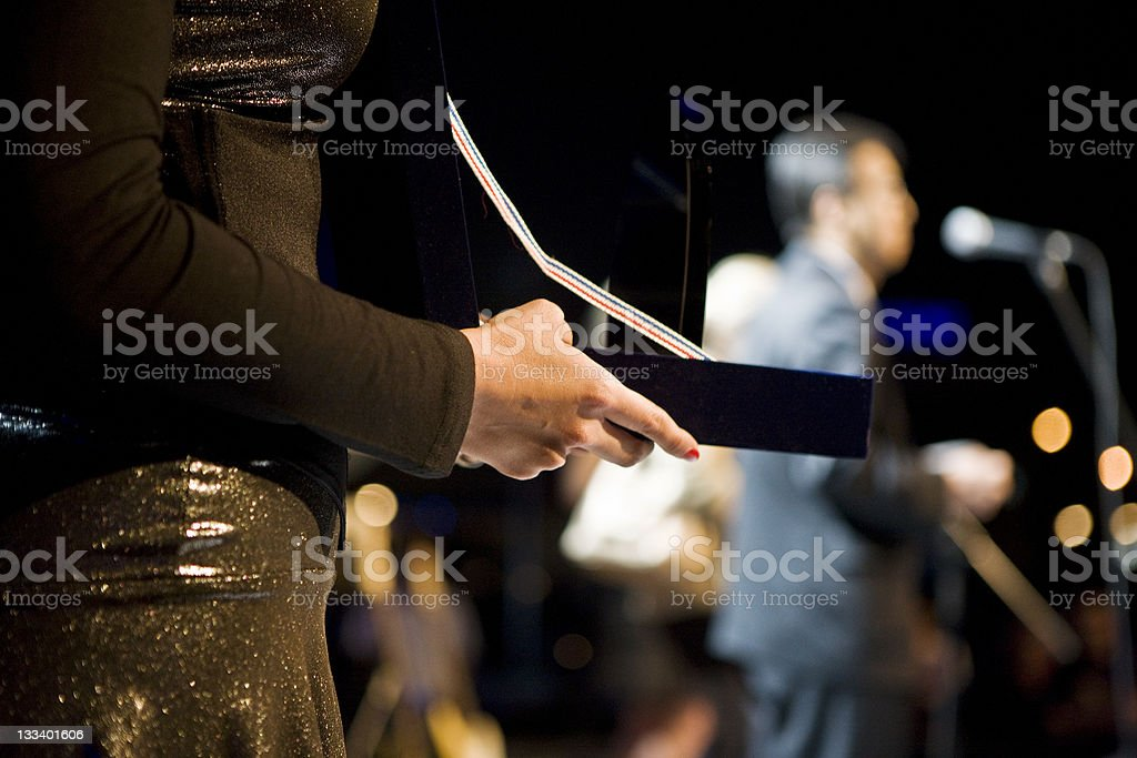 Giving Award stock photo