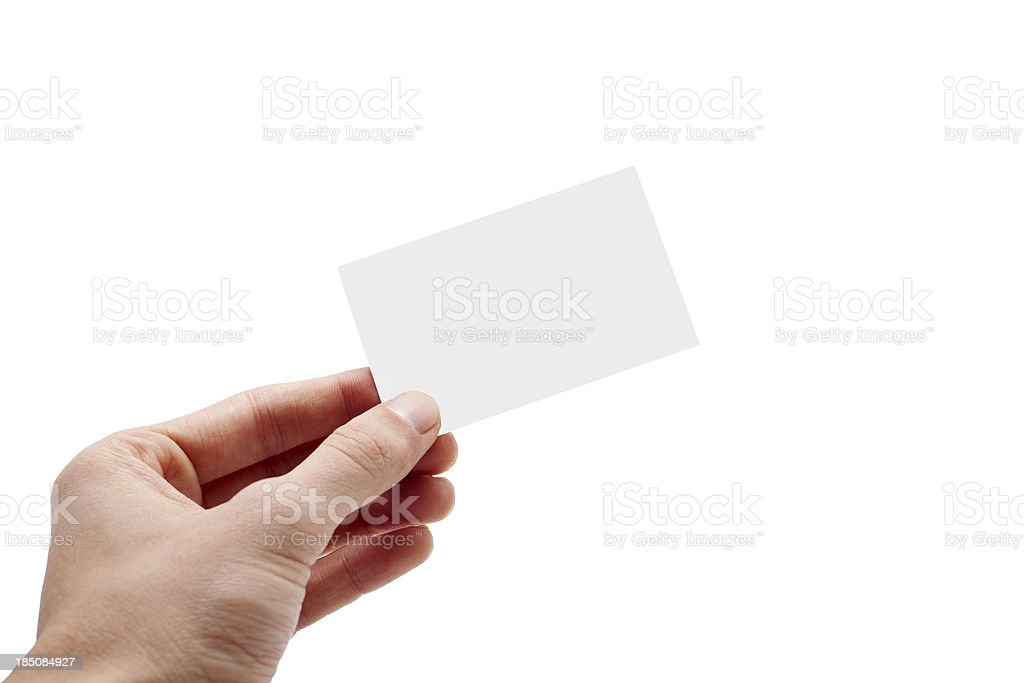 giving business card royalty-free stock photo