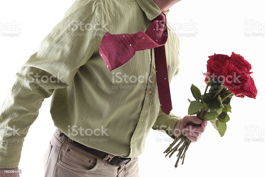 giving flowers stock photo