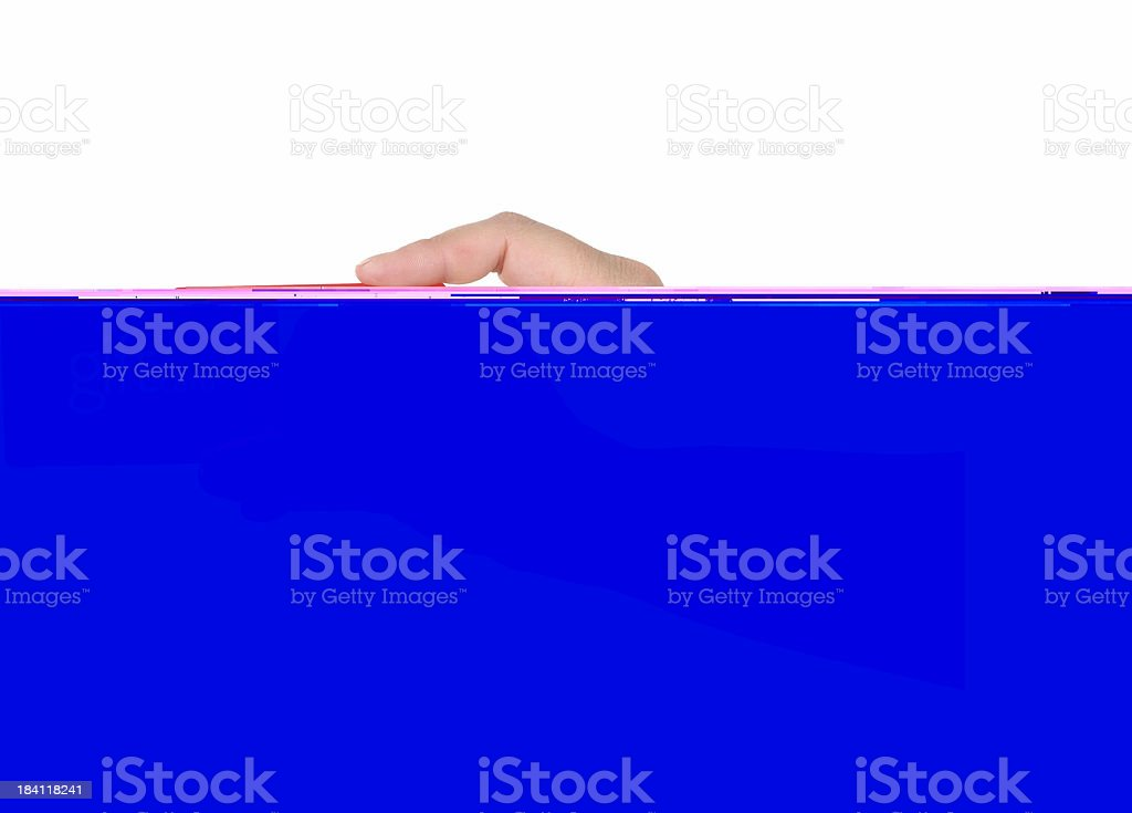 Giving Gift Card stock photo