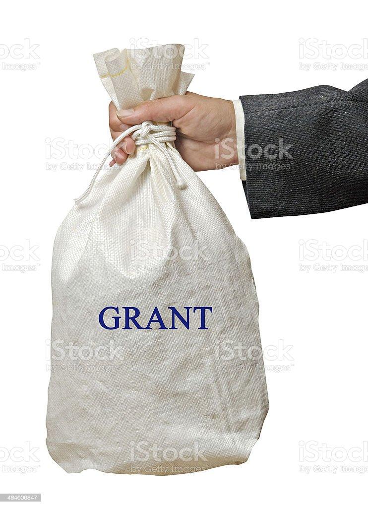 Giving grant stock photo