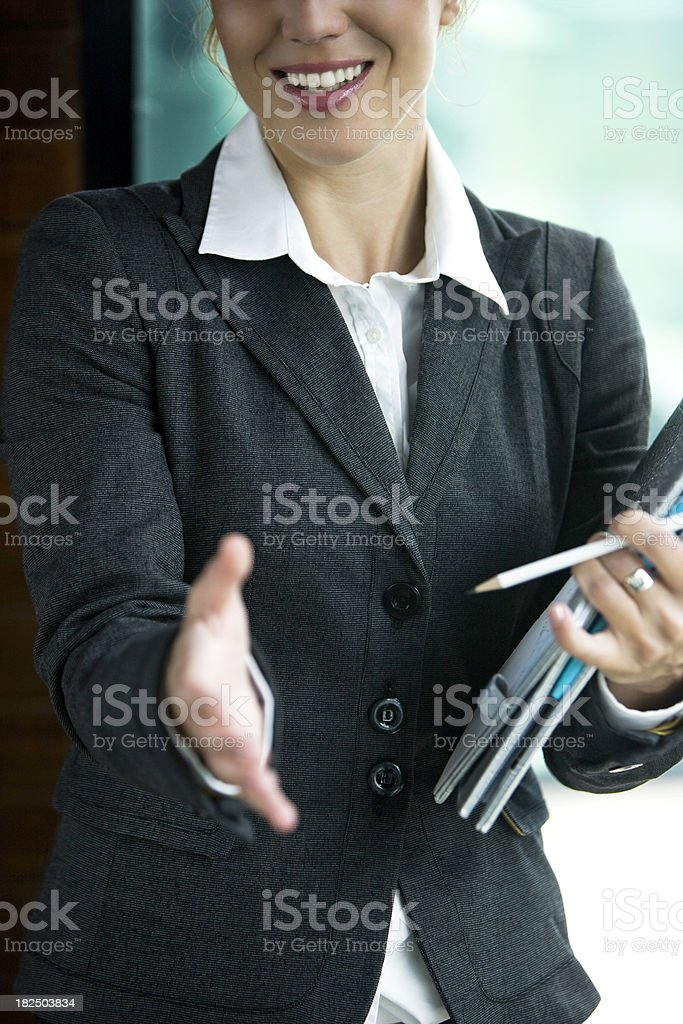 Giving hand for handshake royalty-free stock photo