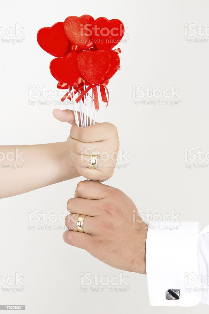 giving heart sticks royalty-free stock photo